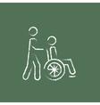 Nursing care icon drawn in chalk vector image