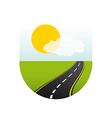 road highway vector image