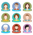 Set of avatar flat design vector image