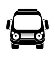 silhouette school bus student transport vector image
