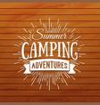 summer camp badge outdoor logo vector image