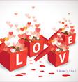 Valentine gift box vector image