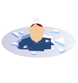 Winter swimming vector image