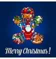 Merry Christmas poster greeting card vector image
