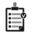 Check list icon simple style vector image