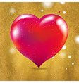 Vintage Valentines Day Card With Red Heart vector image