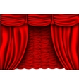 red silk curtain with shadows vector image