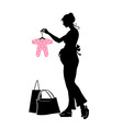 pregnant woman vector image