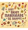 Happy handmade color card vector image