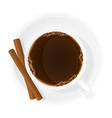 cup of coffee 08 vector image vector image