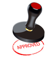 seal approved vector image vector image
