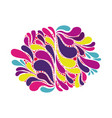 abstract colorful arc-drop background creative vector image