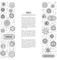 cells of viruses and bacteria vector image