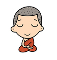 cute Buddhist Monk vector image