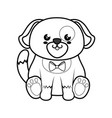dog kawaii cartoon vector image