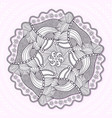 ornamental mandala circle lace ornament pattern vector image