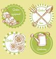 Sketch set of gardening logo vector image