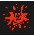 The symbol of the skull and blood vector image