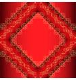Red Ornamental Frame Background vector image vector image