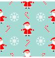 Christmas snowflake candy cane Santa Claus wearing vector image