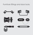 furniture fittings door lock door furniture and vector image