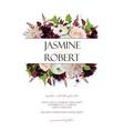 wedding invitation invite card design rose vector image vector image