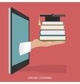 Online Education Flat Isometric Concept vector image vector image