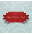 Valentines Day realistic red Banner vector image