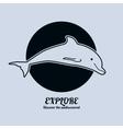 a dolphin Minimalist vector image