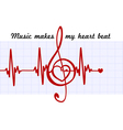 Heart in a musical clef vector image