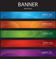 colorful abstract banner vector image