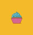 Cupcake Flatten vector image
