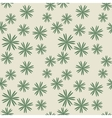 Flower pastel green seamless pattern vector image