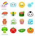 Kawaii stickers - set II vector image