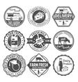 Milk Black White Emblems vector image