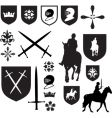 old style Elizabethan icons vector image