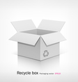 Recyele white box vector image