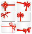 Set Collection of Festive Cards with Bows Isolated vector image