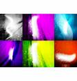 set of shiny magic fantasy backgrounds vector image