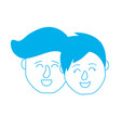 silhouette avatar couple head with hairstyle vector image