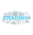 Trading Linear Design vector image