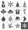Christmas icons set - Simplus series vector image