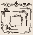 decorative-frame-set vector image