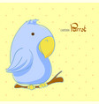 cute cartoon parrot vector image