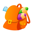 icon backpack vector image vector image