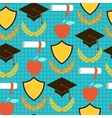 Seamless pattern with school icons vector image vector image