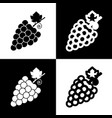 grapes sign   black and white vector image