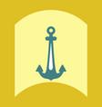 flat icon design collection sea anchor vector image