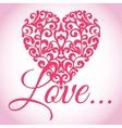 Valentines Love Heart vector image