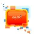 orange speech template tor your text vector image vector image